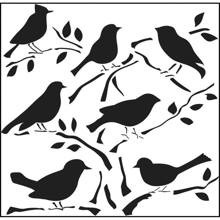 Malvorlage Vogel Silhouette Tier Ausmalbilder