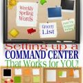Command center that works for you more homework command center command