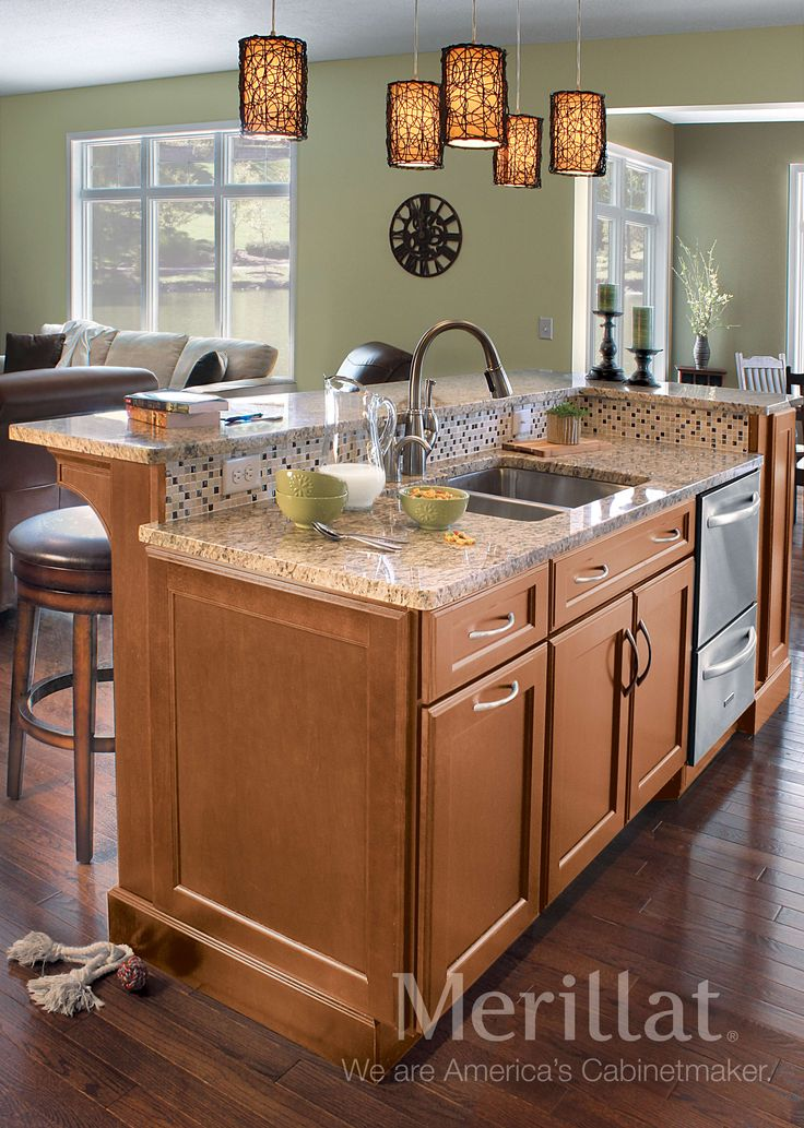 merillat kitchen cabinets faucets classic® ralston maple hazelnut with java glaze ...