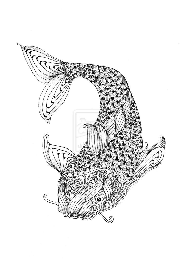 Zendoodle Fish By MYTHAONEdeviantartcom On DeviantART