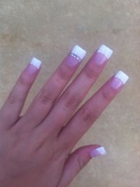 Acrylic White Tip Nail Designs