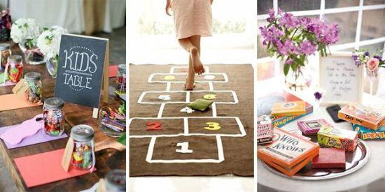 Entertaining Kids at Weddings. Nice / Intrattenimento per i Bambini al Matrimonio. Carino - (www.onefabday.com)
