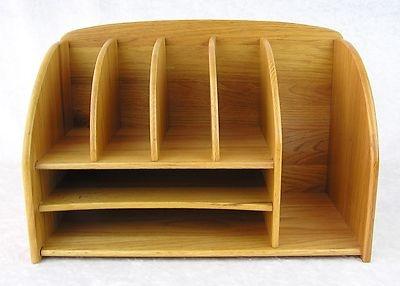 6500 Large Sturdy Oak Wood Desktop Desk Letter Bill Organizer Mail Holder Home Pinterest