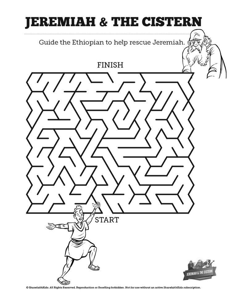 The Prophet Jeremiah Bible Mazes: Can your kids lead the