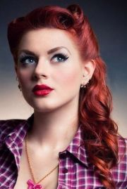 pin hairstyles long red hair