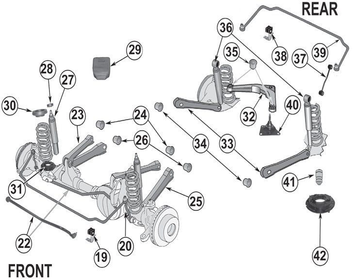 Jeep Grand Cherokee WJ Suspension Parts ('99-'04