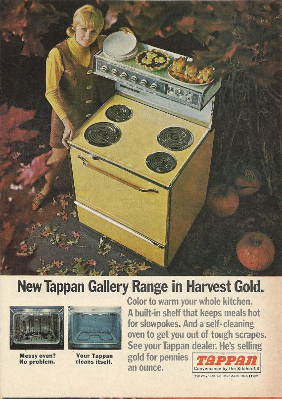 kitchen miniature kitchens designs tappan gallery range original 1968 vintage color print ad ...