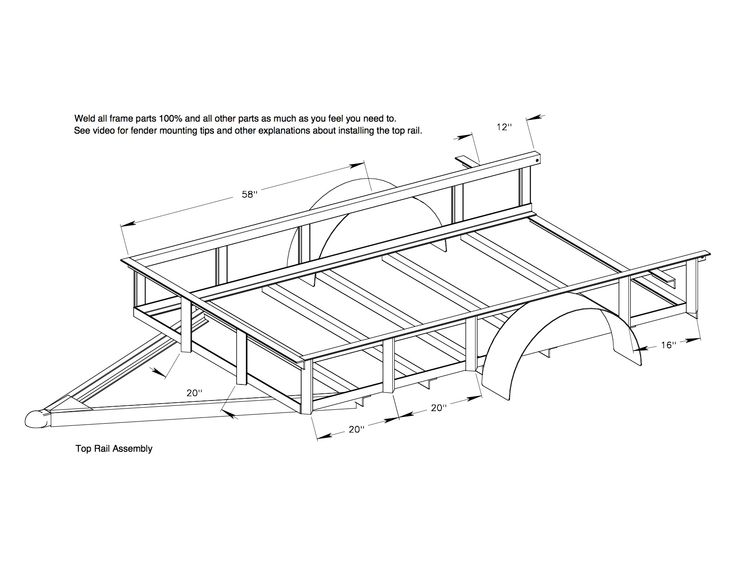 5x8 Trailer Frame Diagram - Collection Of Wiring Diagram •