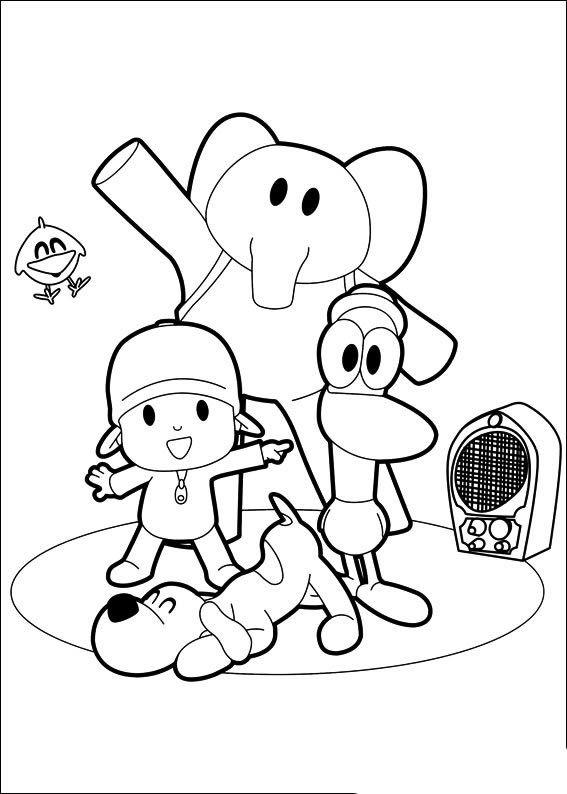 Dibujos de Pocoyó para colorear y pintar. Imprimir dibujos