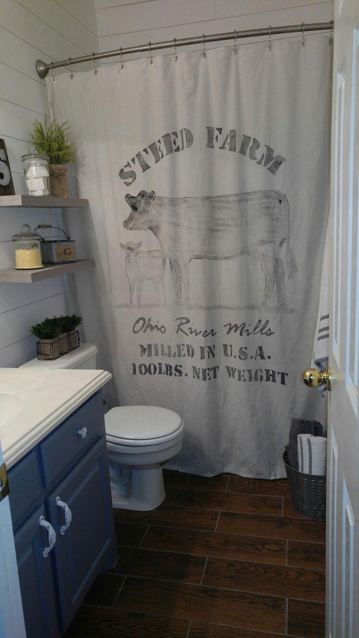 Best 25 Farmhouse shower curtain ideas on Pinterest  Bathroom shower curtains Guest bathroom