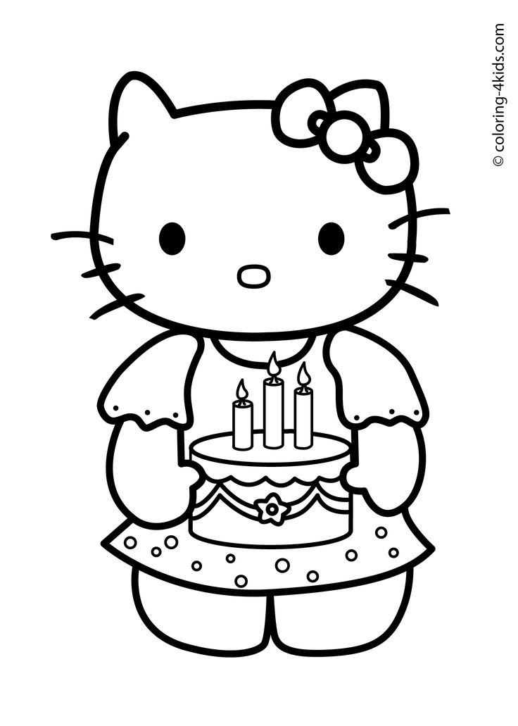 25+ best ideas about Birthday coloring pages on Pinterest