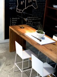 would love 2 long narrow tables- one for laptop desk ...