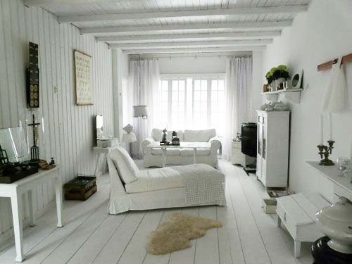 Woonkamer bij Jolanda binnenkijken brocante white