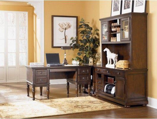 Rustic Lshaped Desk  Montgomery LShaped Office Desk w