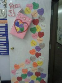 Sweethearts door decoration | Valentines day | Pinterest