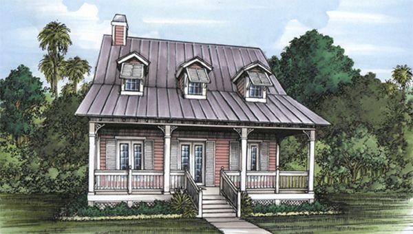 Florida Cracker House Plan chp24543 at COOLhouseplanscom