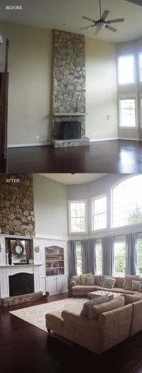 17 Best ideas about Tall Fireplace on Pinterest