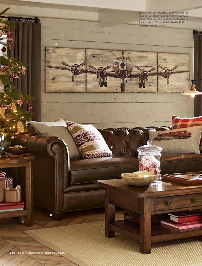 chesterfield sofa living room ideas showrooms love the washed knotty pine wall behind pottery barn ...
