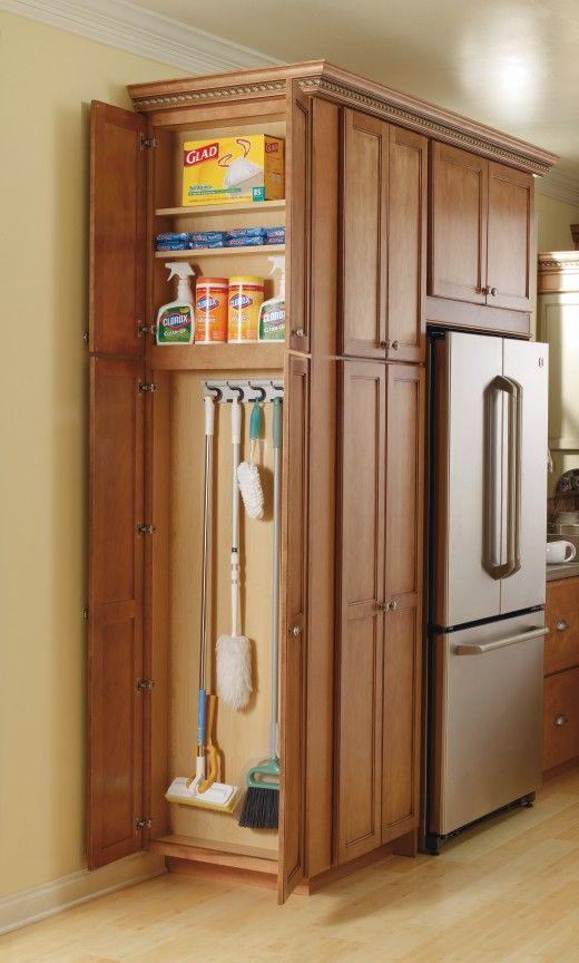 Kitchen Pantry Storage Cabinet Broom Closet  Woodworking