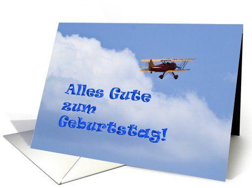 Flugzeug Alles Gute Zum Geburtstag Card Greeting Card