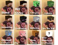 Headcraft Box Head Kit - Any custom skin | Minecraft ...