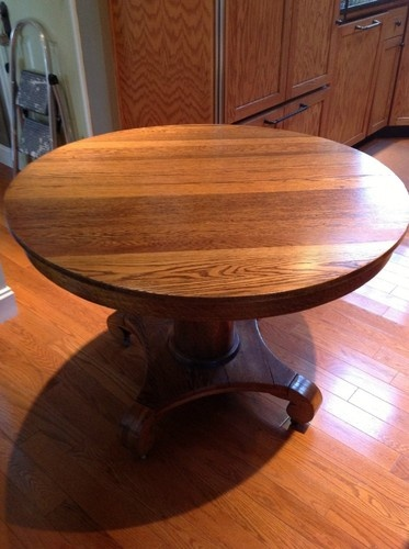 antique tiger oak dining room chairs white padded folding 17 best images about round wooden tables on pinterest   pedestal, furniture and dark wood