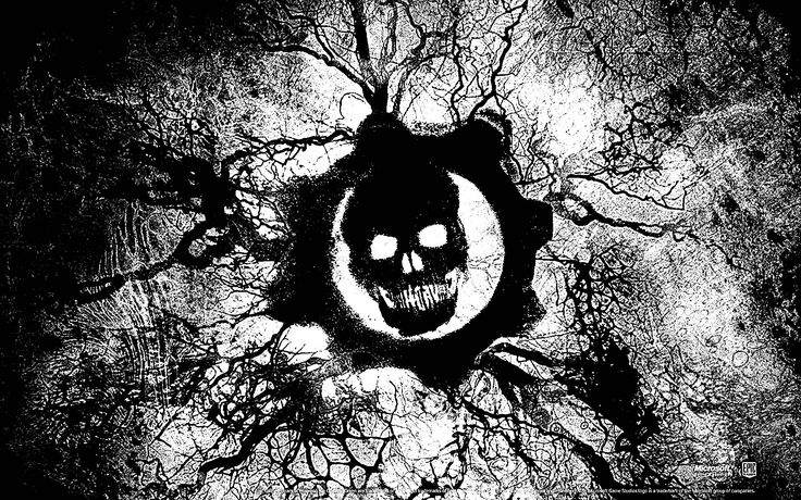 Download Gears Of War Logo Black White Img 2125915 And HQ
