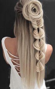 flower braids ideas