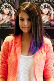 selena gomez - purple and blue