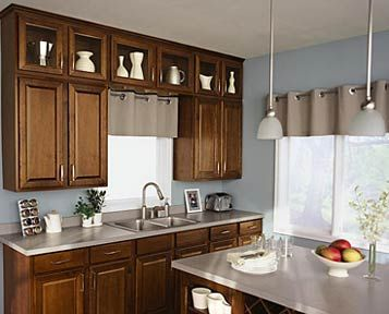 Aristokraft Birch Saybrook in Saddle stain  Kitchens