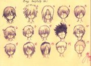 draw anime boys hair miranda
