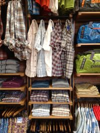 AC shirts. Hang single shirts on small Ikea hooks. (All ...