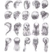 cute cartoon hairstyles peinados