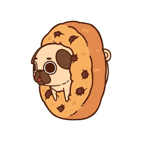 Cute Wallpapers Drawing Of Puppy Tumbler Cute Fat Pug Wallpaper Animated Google Search