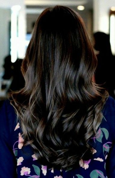 Love This Dark Ash Brown Brunnette Hair Hairstyle