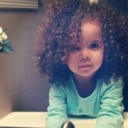 curly baby girl. #natural #curls