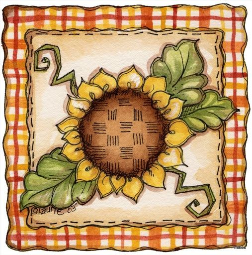 sunflower decoupage printable