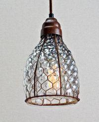 Chicken Wire & Glass Pendant. | Home: Decor | Pinterest ...