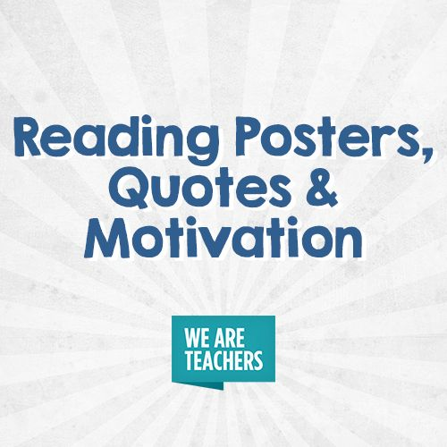 Reading Posters Quotes and Motivation a collection of