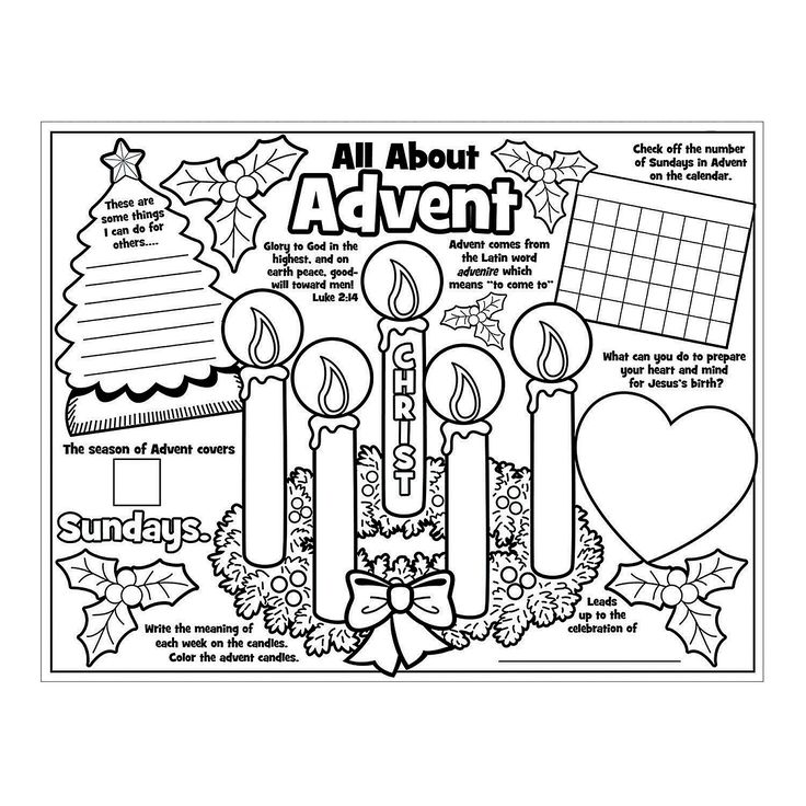 "Paper Color Your Own ""All About the Advent"" Posters"
