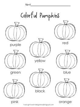 Color recognition worksheet. Read the color word and color