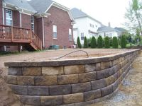 Retaining wall, pavestone block, Carolina Blend color ...