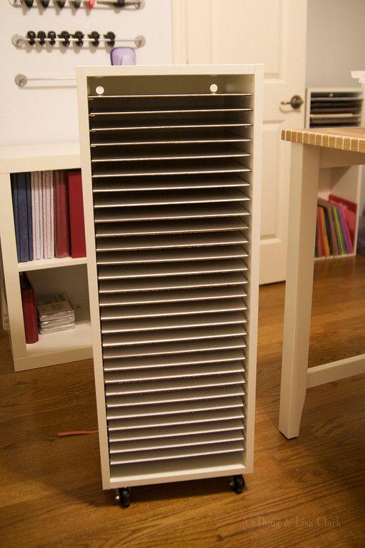 DIY paper storage  Ikea in the Scraproom  Pinterest