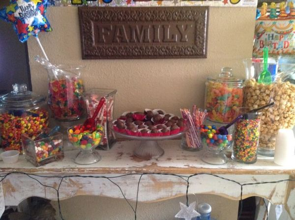 My son39s 18th Birthday candy bar! Birthday party ideas