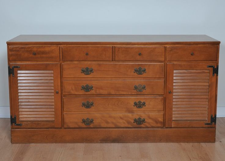 kitchen buffet with hutch heat lamps ethan allen early american style dresser/buffet | ...