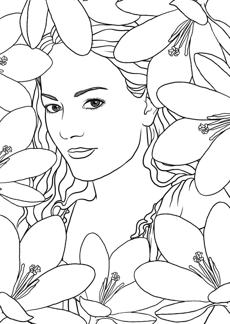 507 best Coloring pages mode people images on Pinterest