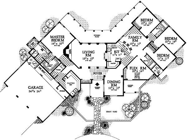 19 best images about hacienda house plans on Pinterest