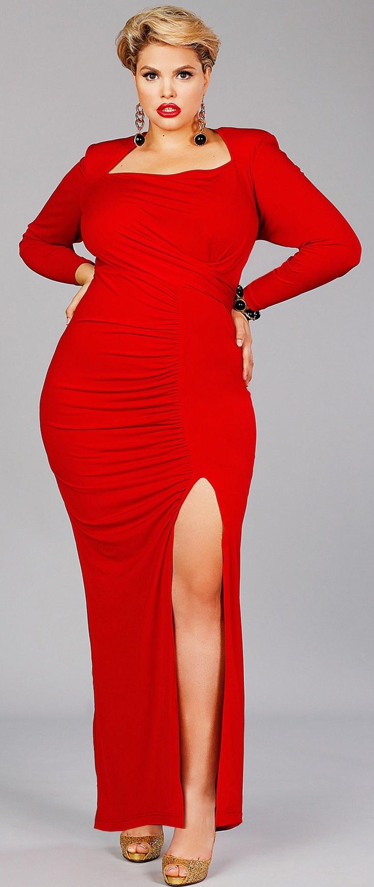 Red dress  Plus size Fashion Sense  Pinterest