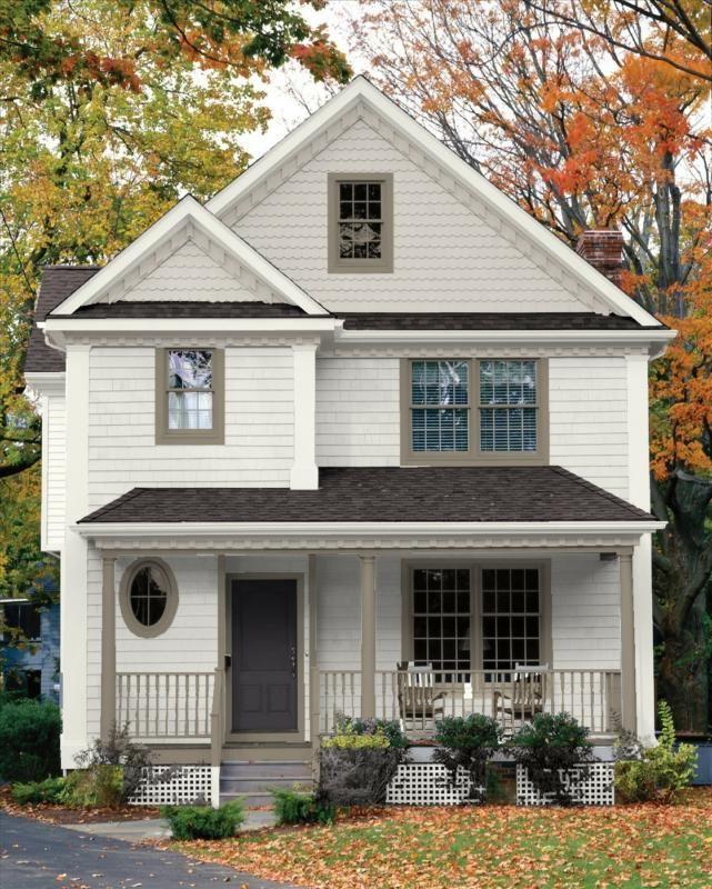 Exterior House Paint Color Schemes White Trim