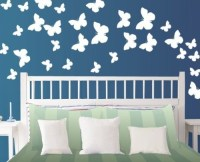 StikEez White Large Butterfly 30-Pack Wall Decals Various ...